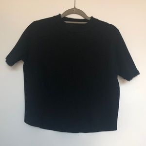Black Crop Knit Top from Zara